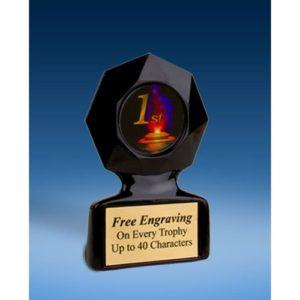 1st Place Black Star Acrylic Trophy