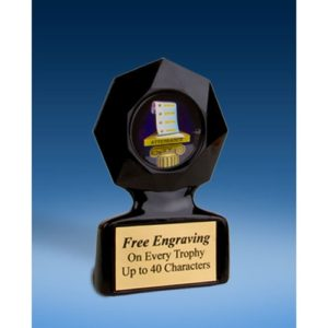 Attendance Black Star Acrylic Trophy