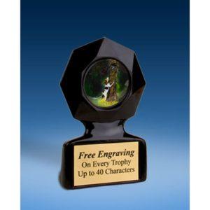 Dog Black Star Acrylic Trophy
