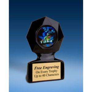 Go Kart Black Star Acrylic Trophy