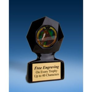 Horse Black Star Acrylic Trophy