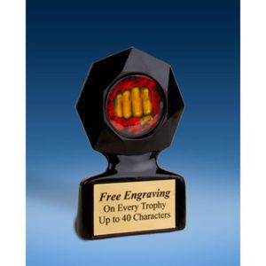Martial Arts Black Star Acrylic Trophy