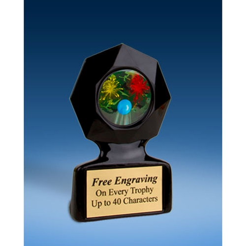 Paintball Black Star Acrylic Trophy