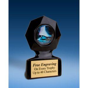 Skating Black Star Acrylic Trophy