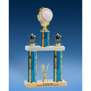 Baseball Spinner Ball 2 Tier Trophy 16""