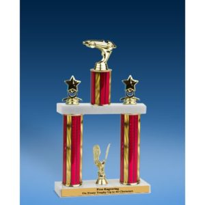 Racing Sport Figure 2 Tier Trophy 16""