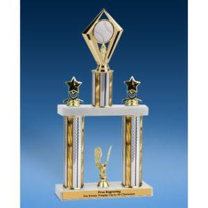 "Baseball Diamond 2 Tier Trophy 19"""