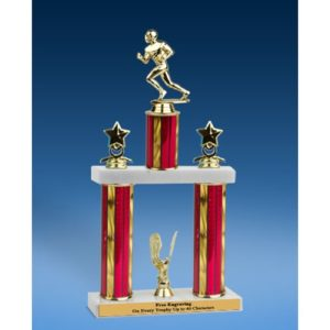 Football Sport Figure 2 Tier Trophy 19""