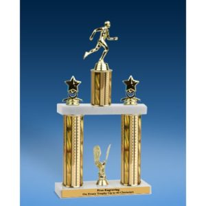 "Track Sport Figure 2 Tier Trophy 19"""