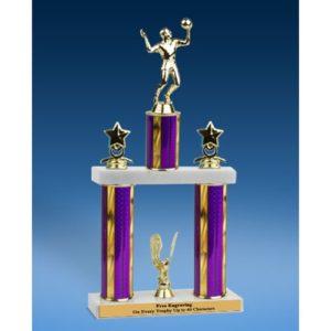 "Volleyball Sport Figure 2 Tier Trophy 19"""