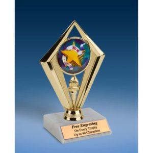 """10K Sport Diamond Trophy 6"""""""