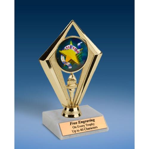 "All Star Sport Diamond Trophy 6"""