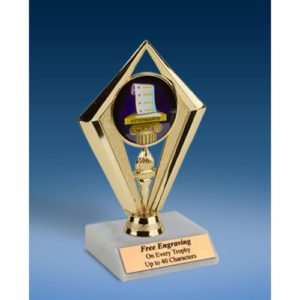 Attendance Sport Diamond Trophy 6""