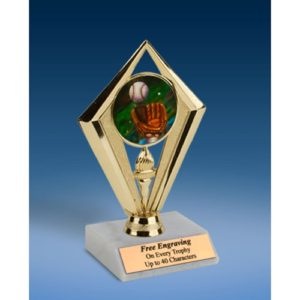 Baseball 2 Sport Diamond Trophy 6""