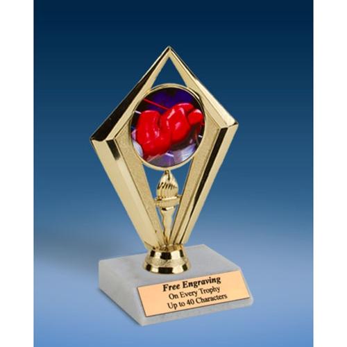 "Boxing Sport Diamond Trophy 6"""