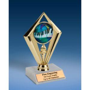 "Music 2 Sport Diamond Trophy 6"""