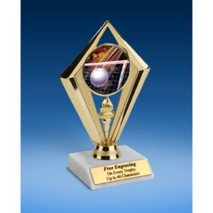 Volleyball Sport Diamond Trophy 6""
