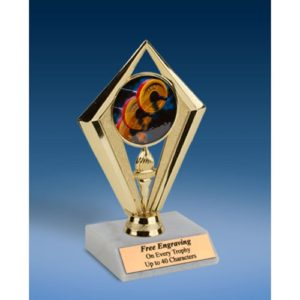 Weightlifting Sport Diamond Trophy 6""