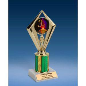 "3rd Place Sport Diamond Trophy 8"""