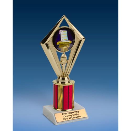 "Attendance Sport Diamond Trophy 8"""