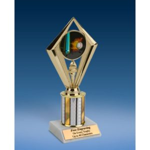 Baseball Sport Diamond Trophy 8""