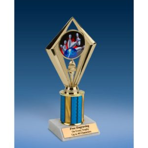 "Bowling Sport Diamond Trophy 8"""