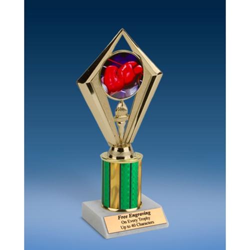 "Boxing Sport Diamond Trophy 8"""