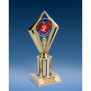 "Cupid Sport Diamond Trophy 8"""