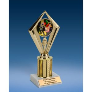 Dance Sport Diamond Trophy 8""