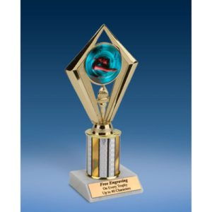 "Diving Female Sport Diamond Trophy 8"""