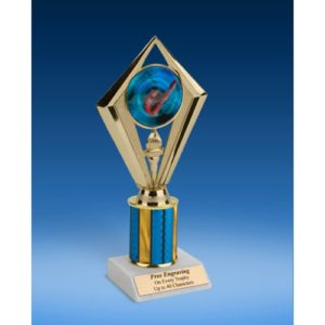"Diving Male Sport Diamond Trophy 8"""