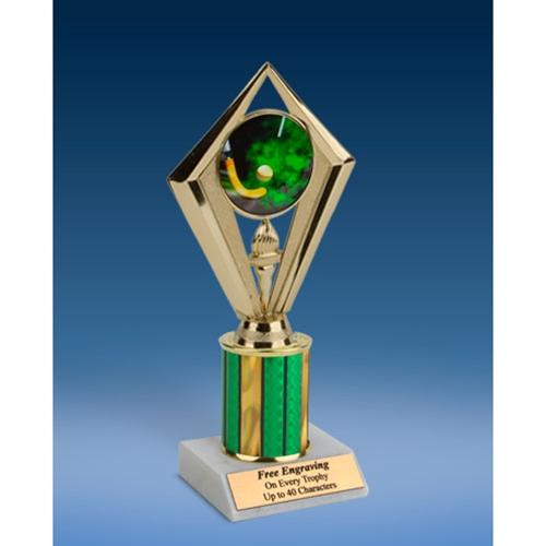 """Field Hockey Sport Diamond Trophy 8"""""""