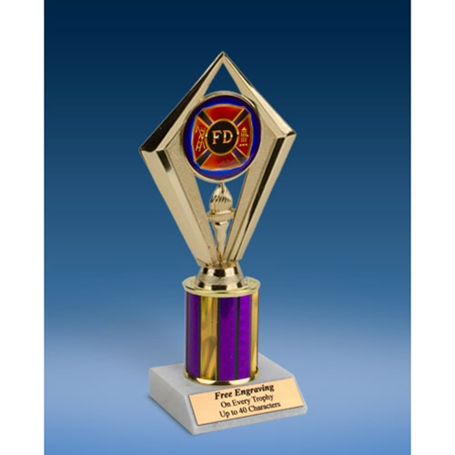 Fire Department Sport Diamond Trophy 8""