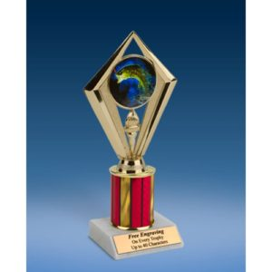Fishing Sport Diamond Trophy 8""