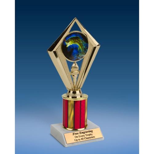 "Fishing Sport Diamond Trophy 8"""