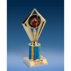Football Sport Diamond Trophy 8""