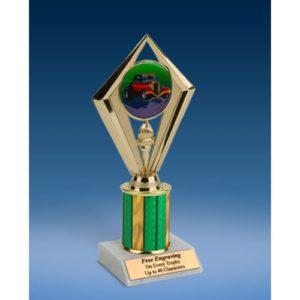 "Hot Rod Sport Diamond Trophy 8"""