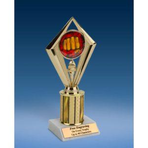 "Martial Arts Sport Diamond Trophy 8"""