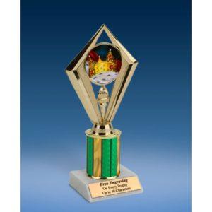 "Prom King Sport Diamond Trophy 8"""