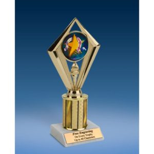 Sportsmanship Sport Diamond Trophy 8""