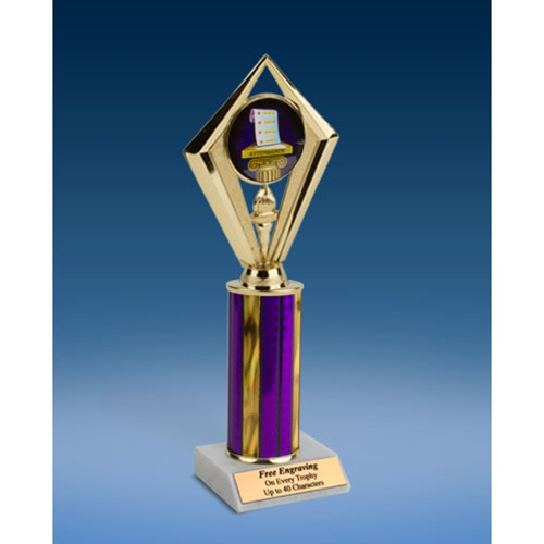 Attendance Sport Diamond Trophy 10""