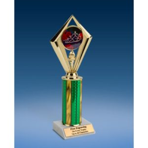 Beauty Pageant Sport Diamond Trophy 10""