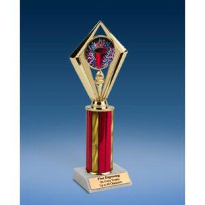 "Cheerleading Sport Diamond Trophy 10"""