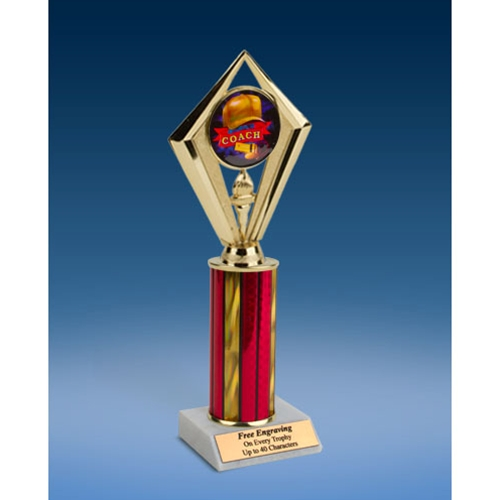 "Coach Sport Diamond Trophy 10"""