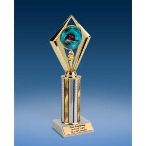 "Diving Female Sport Diamond Trophy 10"""