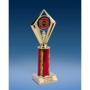 "Fire Department Sport Diamond Trophy 10"""