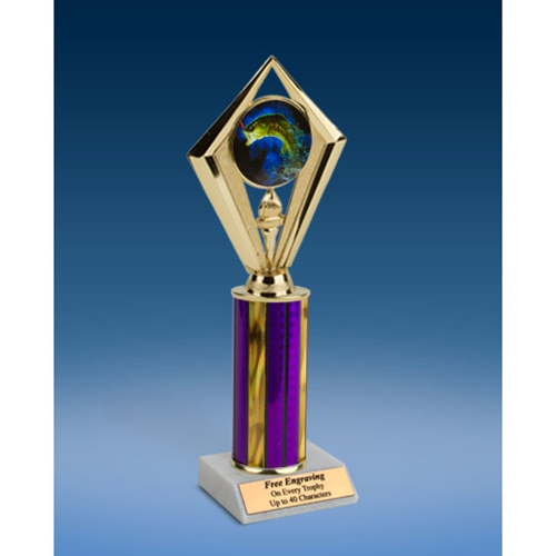 Fishing Sport Diamond Trophy 10""