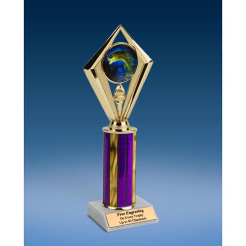 "Fishing Sport Diamond Trophy 10"""
