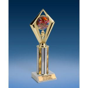 Football 2 Sport Diamond Trophy 10""