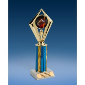 Football Sport Diamond Trophy 10""